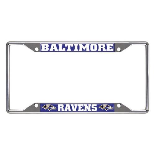 Baltimore Ravens License Plate Frame Chrome Metal