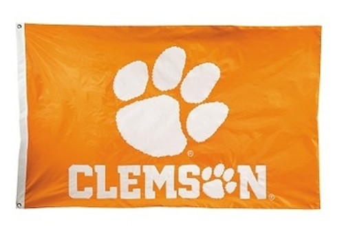 Clemson Tigers 2-sided Nylon Applique 3 Ft x 5 Ft Flag