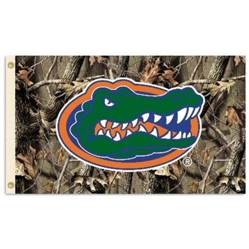 Florida Gators Camo Flag - Gator Head Logo