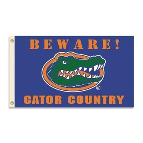 Florida Gators Flag - Beware Gator Country