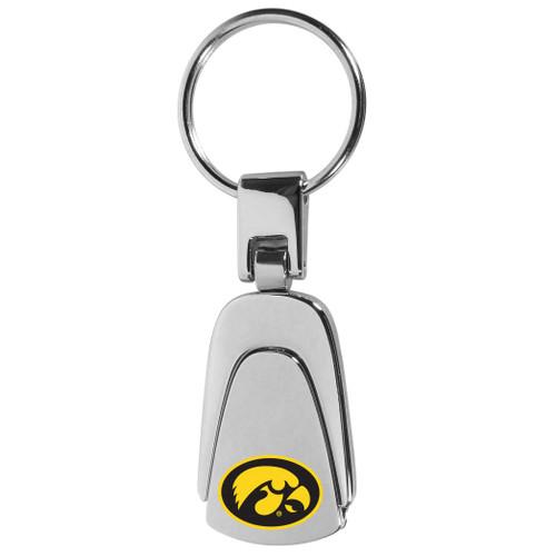 Iowa Hawkeyes Steel Teardop Key Chain Color