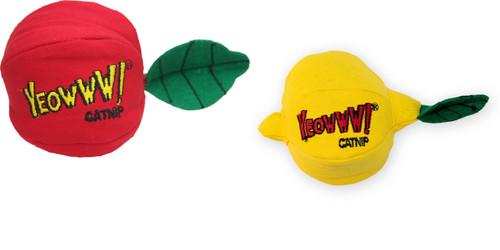 Yeowww! Catnip Apple and Lemon Cat Toys