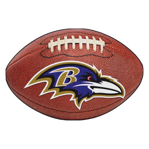 Baltimore Ravens Logo Football Mat