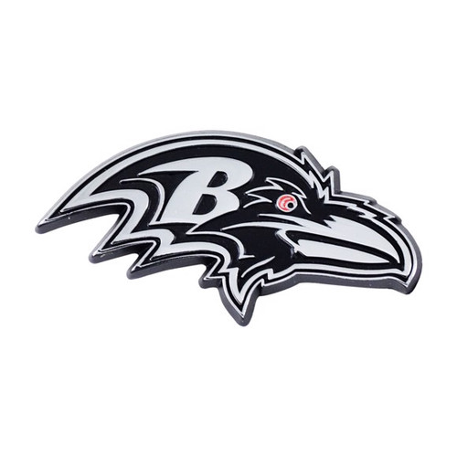 Baltimore Ravens Chrome Metal Emblem