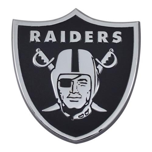 Oakland Raiders Chrome Metal Emblem
