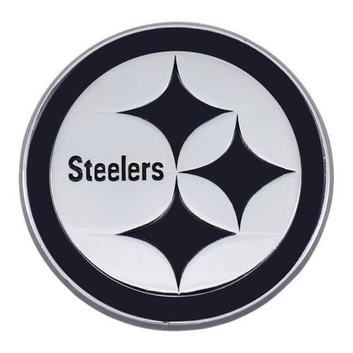 Pittsburgh Steelers Chrome Metal Emblem