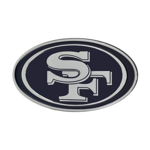 San Francisco 49ers Chrome Metal Emblem