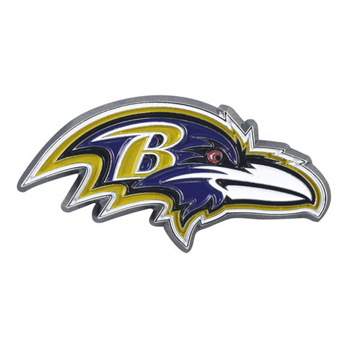 Baltimore Ravens Metal Emblem Color