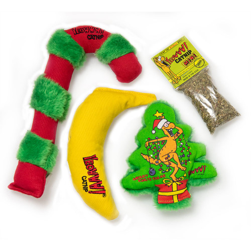 Cat Toy Holiday Gift Bundle Kris Krinkle Catnip Toys