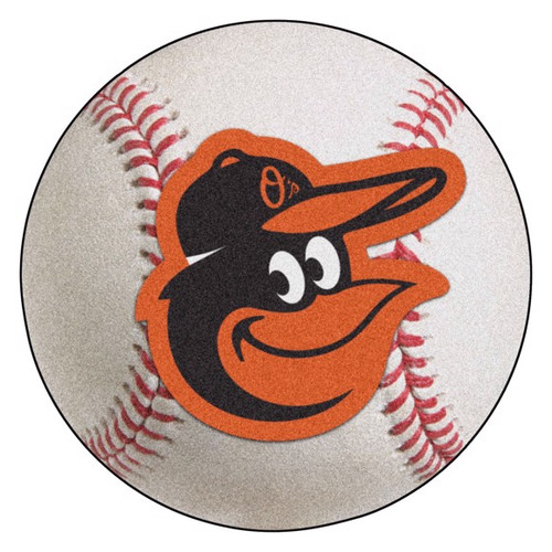 Baltimore Orioles Baseball Mat - Gooney Bird Logo