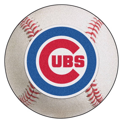 Chicago Cubs Baseball Mat - Cubs Logo