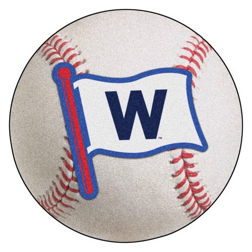 Chicago Cubs Baseball Mat - W Flag Logo