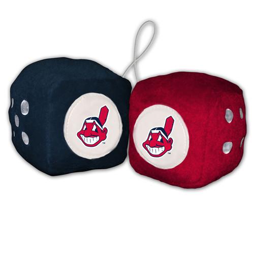 Cleveland Indians Plush Fuzzy Dice