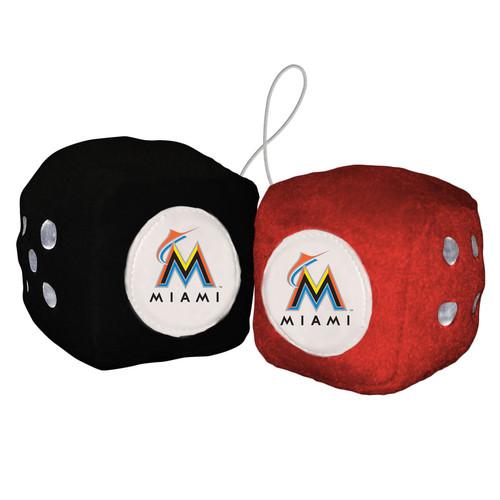 Miami Marlins Plush Fuzzy Dice