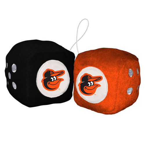 Baltimore Orioles Plush Fuzzy Dice