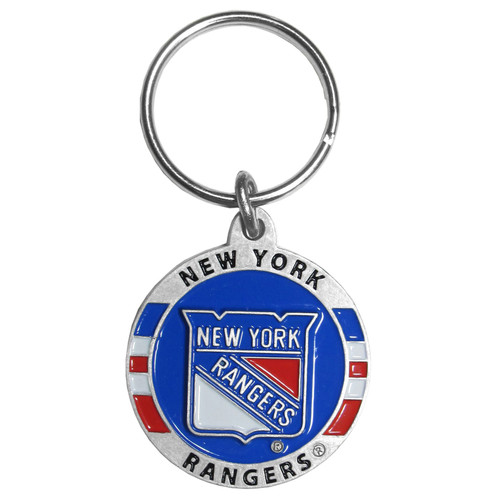 New York Rangers Metal Carved Key Chain