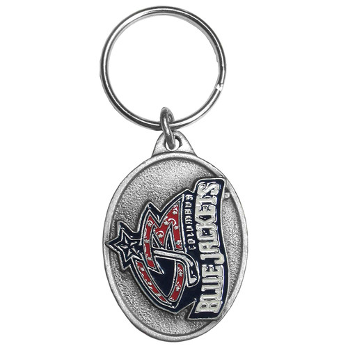 Columbus Blue Jackets Metal Carved Key Chain