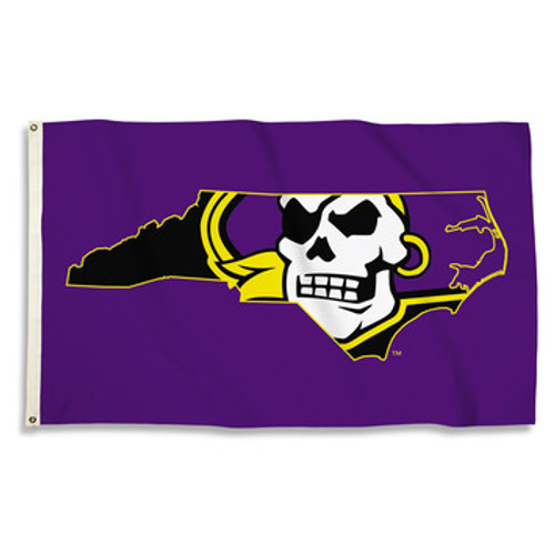 East Carolina Pirates Flag Purple