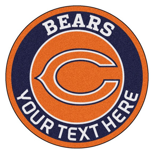 Chicago Bears Personalized Round Mat