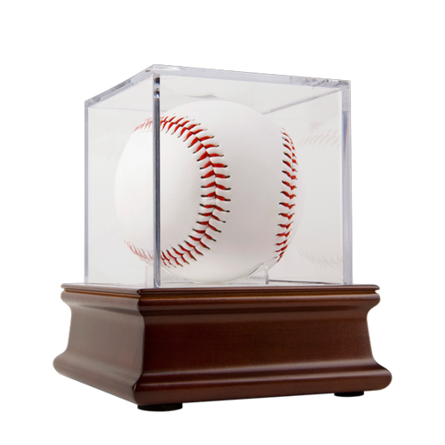 Wood Base UV Grandstand Baseball Display