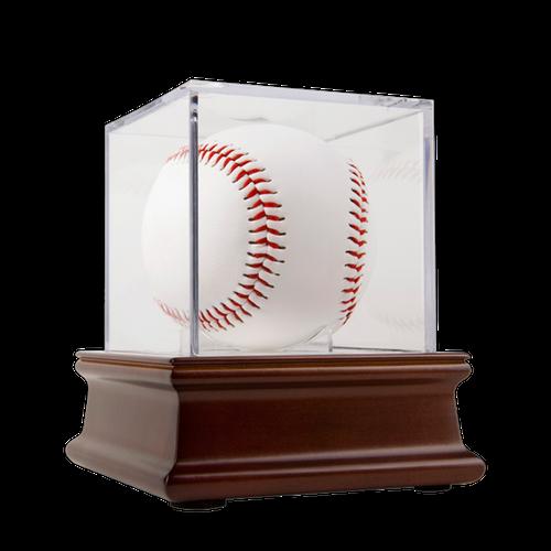 Wood Base UV Grandstand Baseball Display