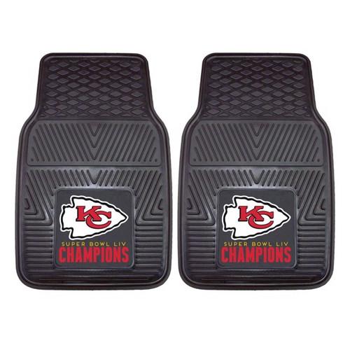 Kansas City Chiefs Super Bowl LIV Champions 2-piece Vinyl Car Mat Set