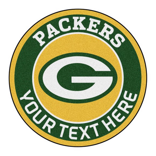 Green Bay Packers Personalized Round Mat