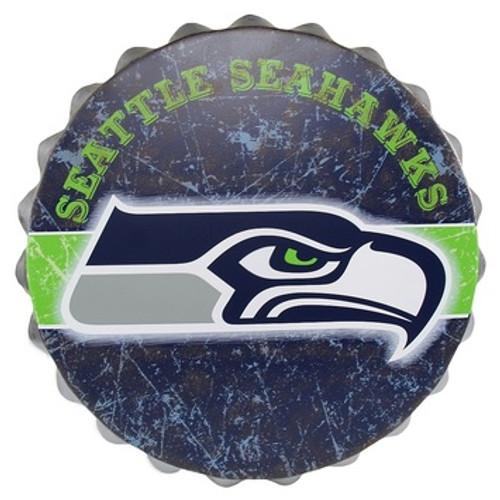 Seattle Seahawks Bottle Cap Sign