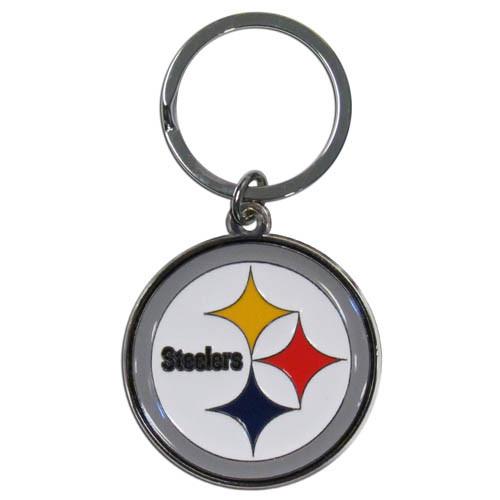 Pittsburgh Steelers Enameled Chrome Key Chain