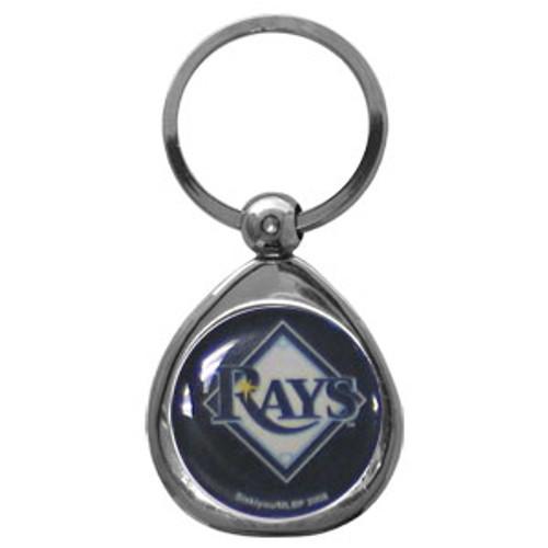 Tampa Bay Rays MLB Chrome Logo Key Chain Ring