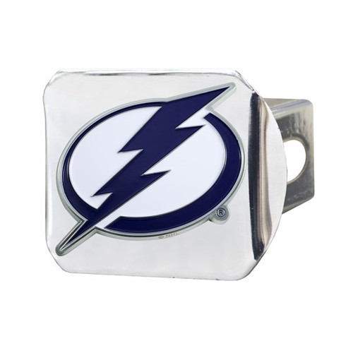 Tampa Bay Lightning Color Chrome Hitch Cover