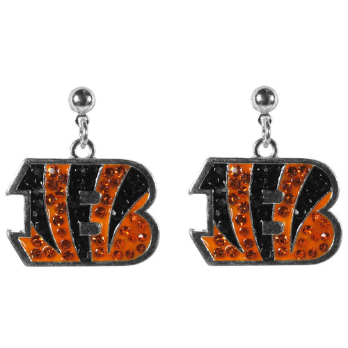 Cincinnati Bengals Crystal Stud Earrings