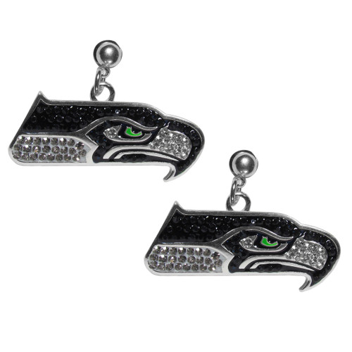 Seattle Seahawks Crystal Stud Earrings