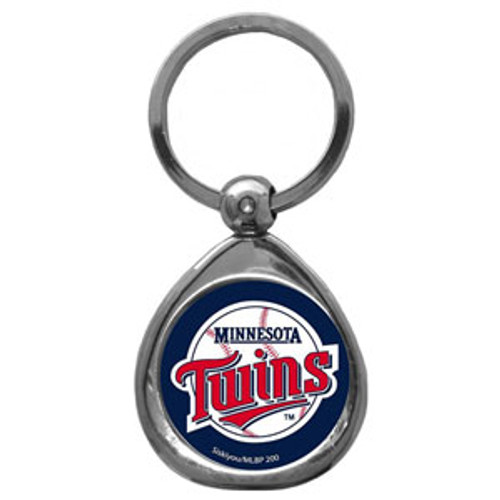 Minnesota Twins MLB Chrome Logo Key Chain Ring
