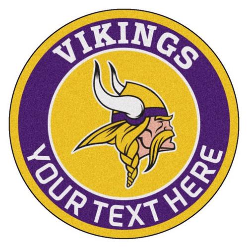Minnesota Vikings Personalized Round Mat