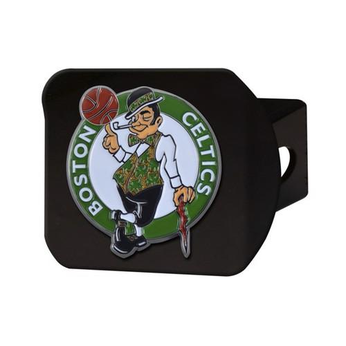 Boston Celtics Black Hitch Cover - Color