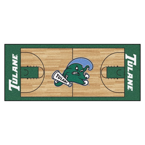 Tulane Green Wave NCAA Basketball Court Runner