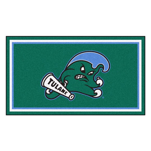 Tulane University 3' x 5' Ultra Plush Area Rug