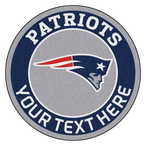 New England Patriots Personalized Round Mat