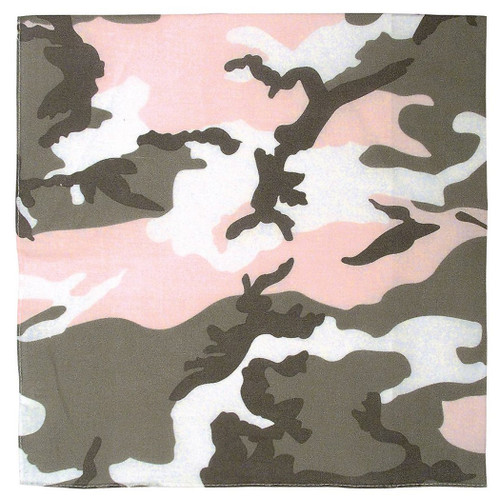 Light Pink Camo Bandana Face Mask