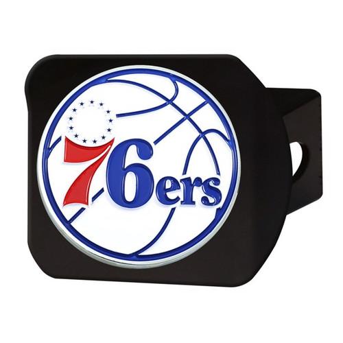 Philadelphia 76ers Black Hitch Cover - Color