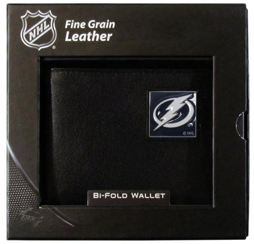 Tampa Bay Lightning Leather Bi-fold Wallet w/ Gift Box