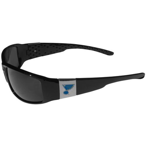 St Louis Blues Chrome Wrap Sunglasses Color
