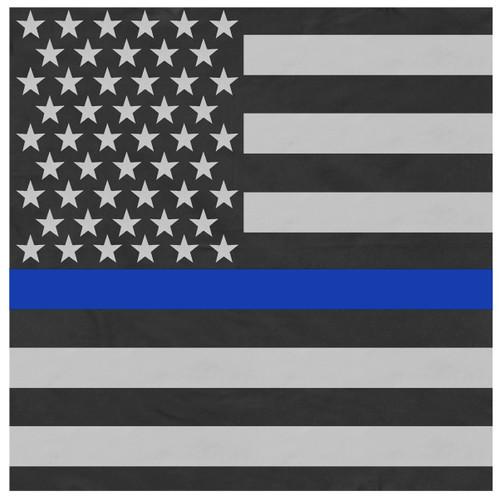 Thin Blue Line American Flag Bandana - Large