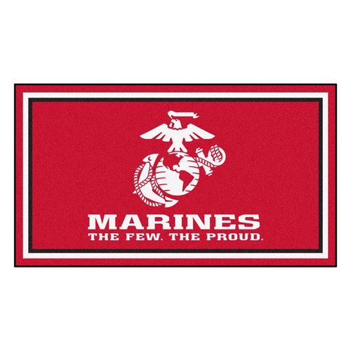 U.S. Marines 3' x 5' Ultra Plush Area Rug - Red