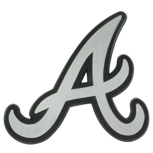 Atlanta Braves Metal Chrome Emblem