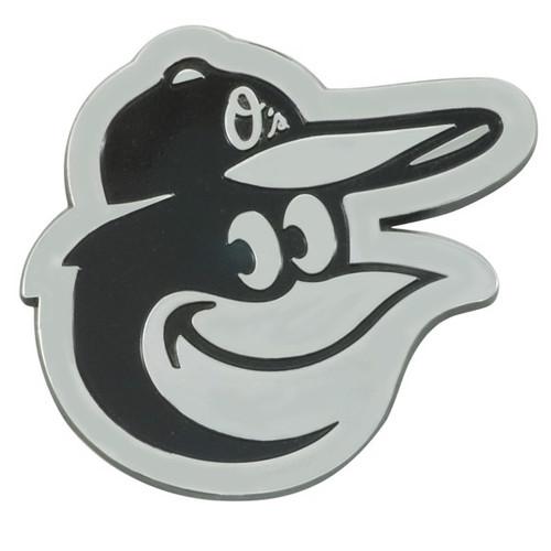 Baltimore Orioles Metal Chrome Emblem