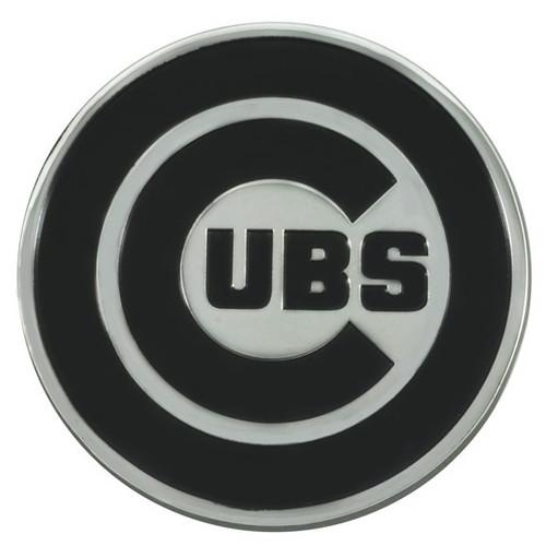 Chicago Cubs Metal Chrome Emblem