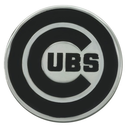 Chicago Cubs Metal Chrome Emblem