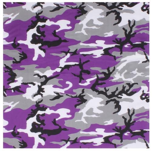 Ultra Violet Color Desert Camo Bandana - Large
